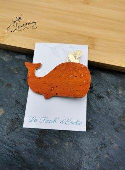 Broche Baleine Orange
